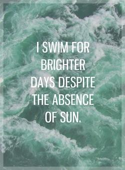 I swim for brighter days despite the absence of sun || Jack's Mannequin