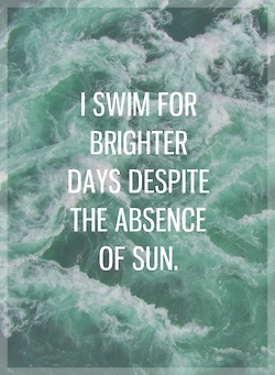 I swim for brighter days despite the absence of sun || Jack's Mannequin