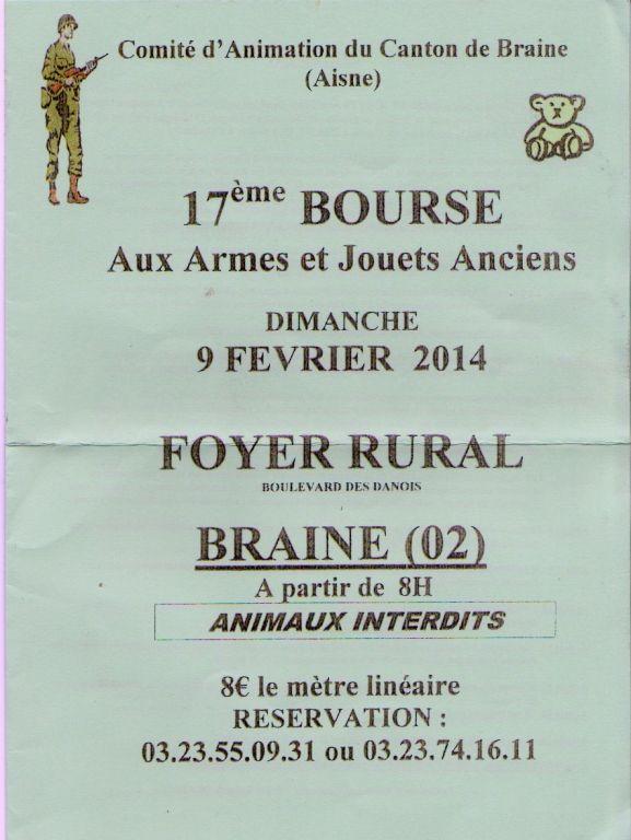 17ème Bourse aux Armes et aux Jouets Anciens, Braine (02220), Picardie