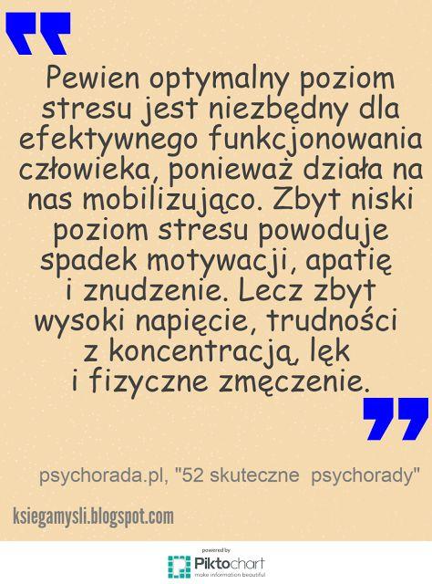 Księga Myśli: Pewien optymalny poziom stresu jest niezbędny do... #cytaty #stres