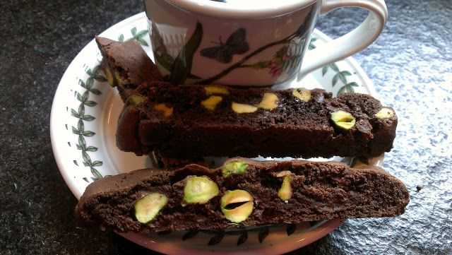 Chocolate Pistachio Biscotti | My Blog Entries | Pinterest