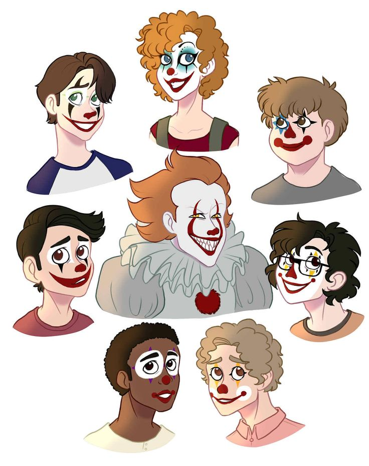 so my brain was like: What if IT was a disney movie??? just take this as a good!Pennywise AU (that painted the Losers Club faces at some point)