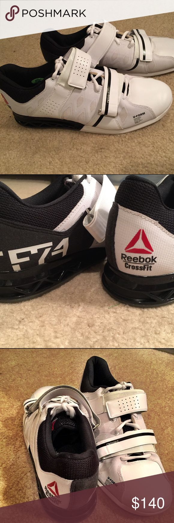 Reebok Crossfit Men's Lifter Plus White 2.0 Excellent condition. Just worn once and only inside the gym. Purchased brand new and still looks brand new! Can't say anything better than what you see in the pics. Happy lifting! Reebok Shoes Athletic Shoes