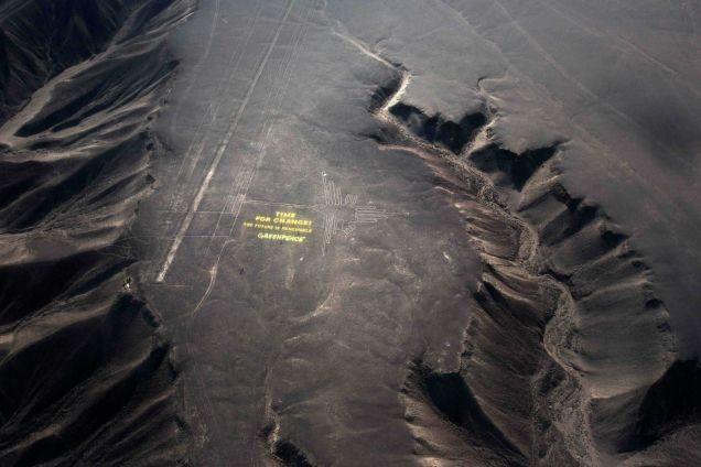 Ação do Greenpeace pode ter danificado irreparavelmente as Linhas de Nazca