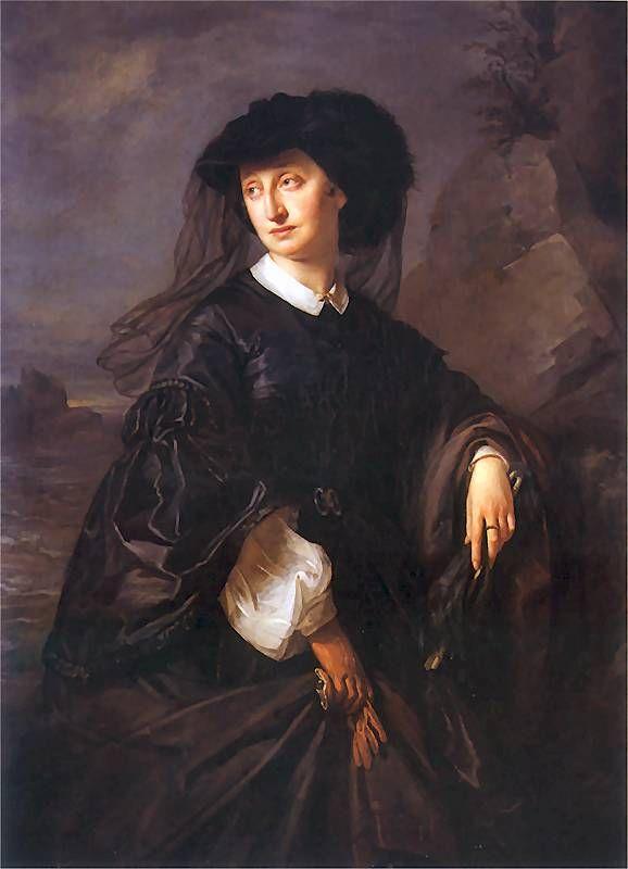 Portret Julii Simmlerowej wykonanym przez jej męża Józefa Simmlera (1823-1868).