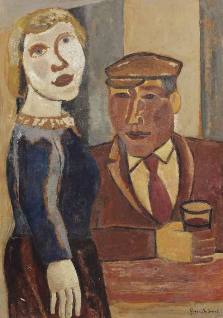 Gustave De Smet (Belgian, 1877-1943), The Admirer, 1931. Oil on board, 88 x 63.5 cm.