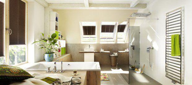CONLUTO gładź gliniana w łazience http://www.dom-z-natury.pl/gladz_gliniana.html
