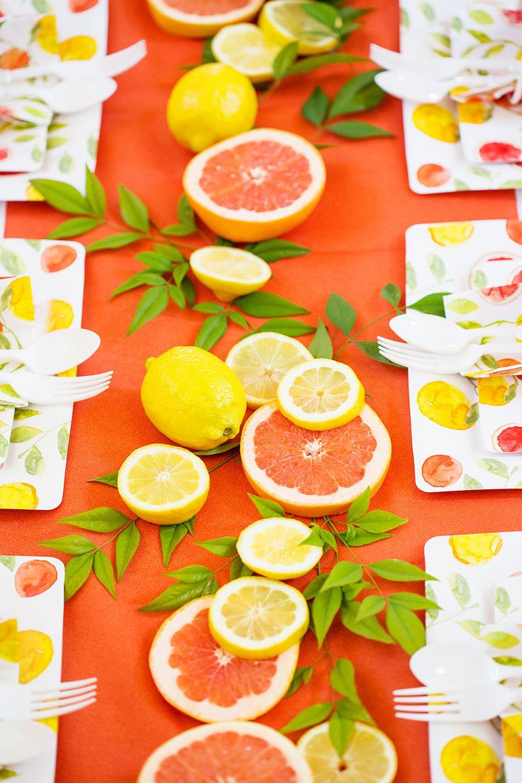 Summer of Citrus: DIY Party Tablescape