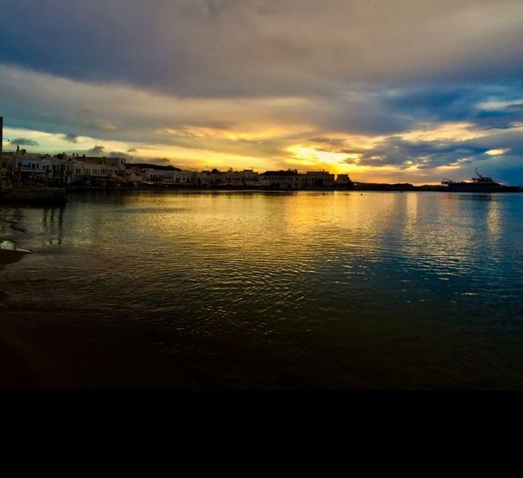 #Mykonos #town under awesome #winter #sunset... Photo:A.Giuriani