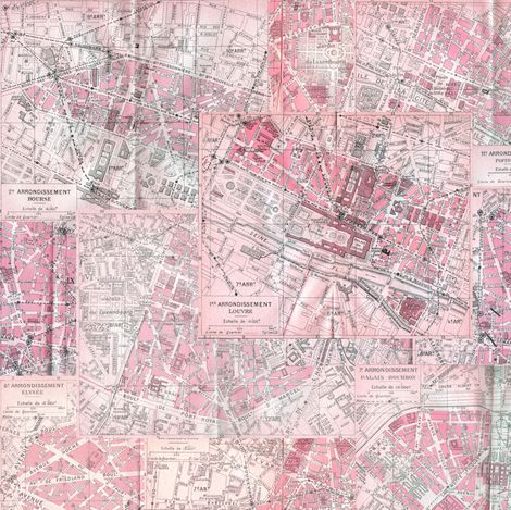 Best Fabric Images On Pinterest Custom Fabric Spoonflower - Paris map fabric