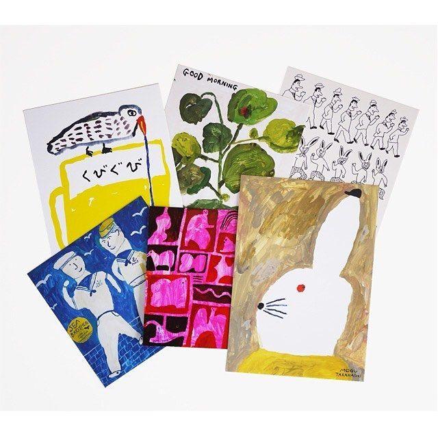 New things listed on the shop! Link on my profile ショップページ更新されましたスウェーデンから届いたうさぎのクロッキー帳もまだあります写真は新作のアートカード おおきくてとてもすきです by mogutakahashi