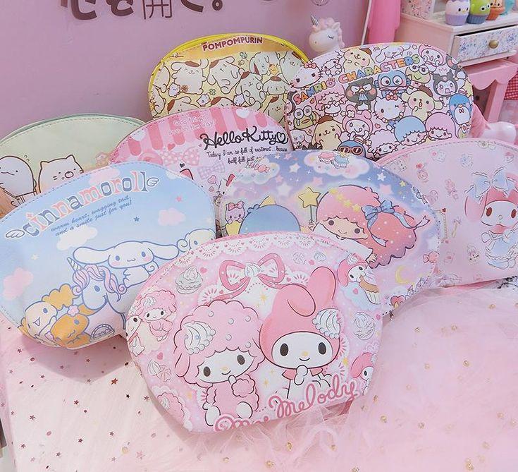 bag makeup bag in 2020 Sanrio hello kitty, Hello