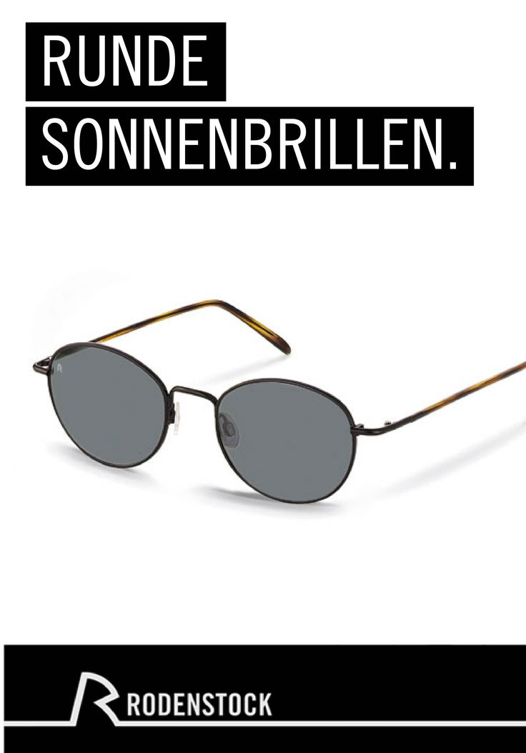 Die runde Form dieser Unisex-Sonnenbrille von Rodenstock macht sie zum klassischen Accessoire für minimalistische und schicke Outfits. Sie sehen hervorragend aus und schützen Ihre Augen vor der Sonne.