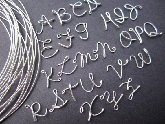 Sterling silver Personalized Wire Name Necklace handmade – Hochzeitsgeschenk