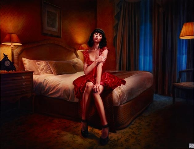 Vincent Fantauzzo paints Kimbra - Archibald prize finalist. Looks pretty awesome!