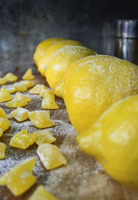 Homemade Lemon Drop Candies.