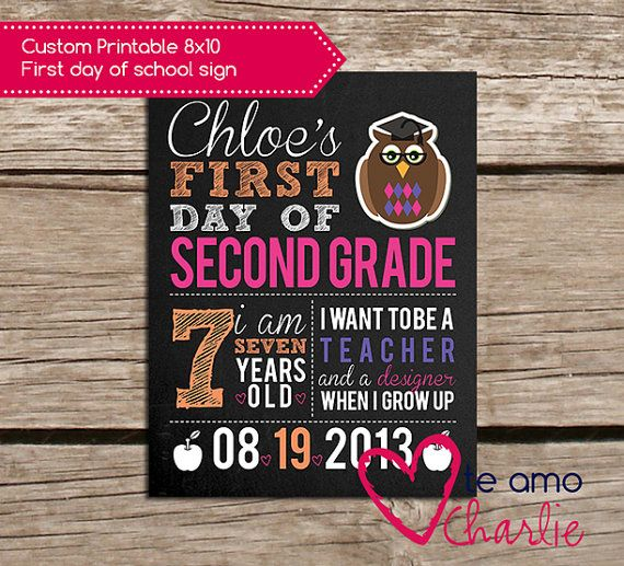 First Day of School Sign #printable #backtoschool