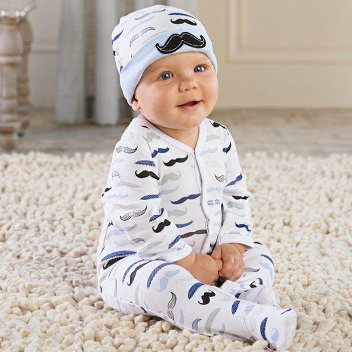 cool pyjama bébé pas cher ensemble bébé fille moustashes