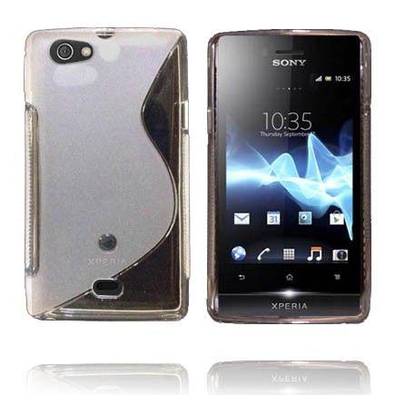 Transparent S-Line (Hvit) Sony Xperia Miro Deksel