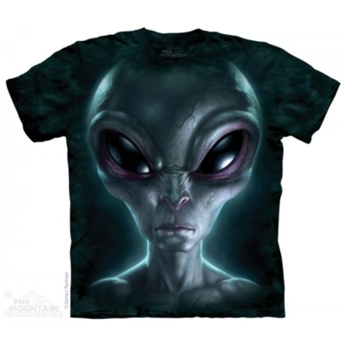Tricouri The Mountain – Tricou Grey Alien