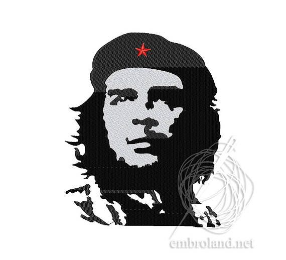 Che Guevara Machine Embroidery Design Instant Download