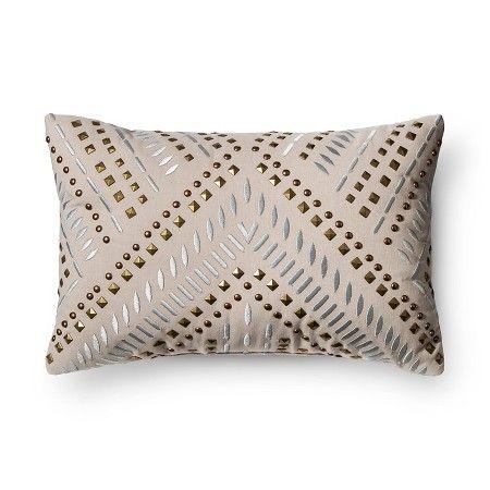 Grey Studded Metallic Throw Pillow - Xhilaration™ : Target