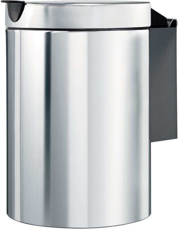 Brabantia wandafvalemmer brill steel 3l  In stijl je afval verzamelen kan met een Brabantia Wandafvalemmer met een inhoud van 3 liter. Deze wandafvalemmer is reukdicht en geruisloos en is gemakkelijk te reinigen dankzij de uitneembare kunststof binnenemmer. De emmer is afneembaar van de RVS stalen houder voor optimale reiniging. En dankzij het gebruik van corrosiebestendige materialen is de emmer ook geschikt om in vochtige ruimtes te plaatsen - Reukdicht en geruisloos - Uitneembare…