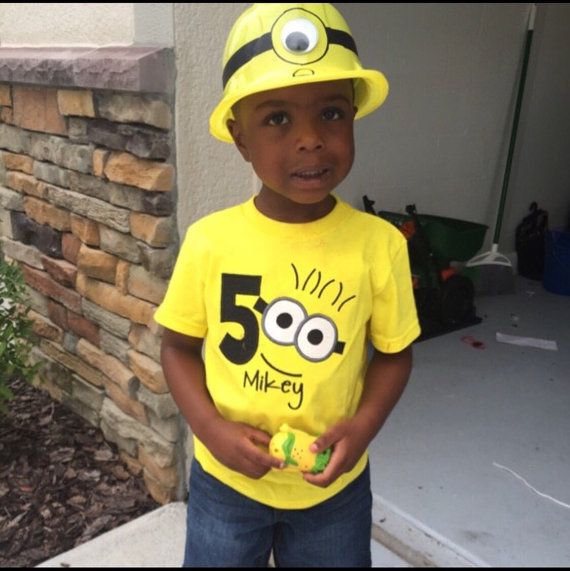 Minion Birthday shirt with number by SewSouthernDes on Etsy