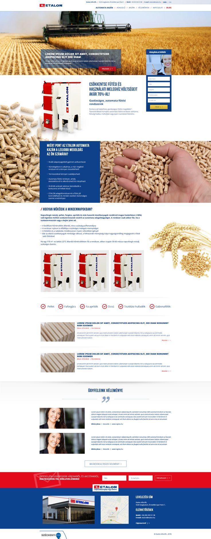 Etalon-kazán webdesign, elkészültünk!