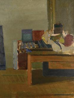 Martwa natura na stole kreślarskim, Artur Nacht-Samborski