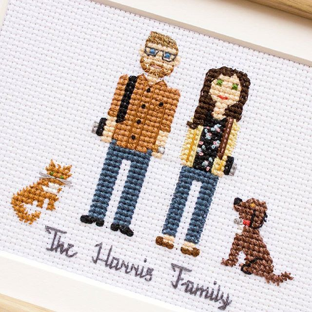 Custom portrait of a cute family of photographers and their furry friends. I love this portrait and the colors!Hope the family will love it too. #familylife #familyportrait #giftideas #photographers #camera #etsy #myfamily #portrait #catsofinstaworld #familyphoto #etsybestgifts #familylook #myfam #floralprint #photographer #doglife #homedecor #cats_of_instagram #dogsofig #mylittlefamily #husbandandwifey #mywife #mywifey #couples #myhubby #catsofig #myhusband #hubbyandwifey #anniversary…
