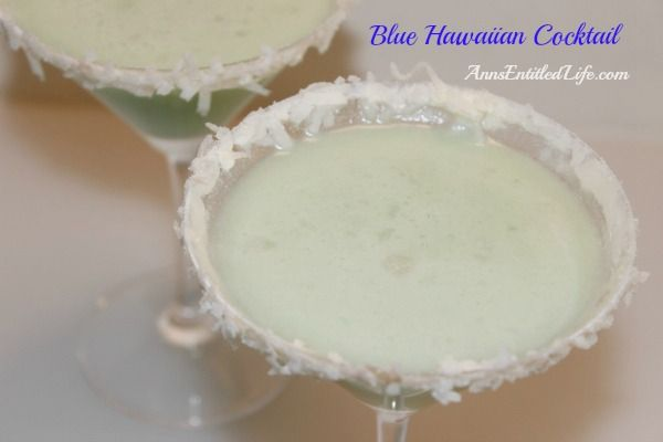 Blue Hawaiian Cocktail Recipe - This classic Blue Hawaiian Cocktail will have you thinking of sandy tropical beaches and warm summer breezes. A delightful blend of rum, coconut, pineapple and blue Curaçao, this Blue Hawaiian Cocktail Recipe is perfect for any occasion. Aloha!   http://www.annsentitledlife.com/wine-and-liquor/blue-hawaiian-cocktail-recipe/