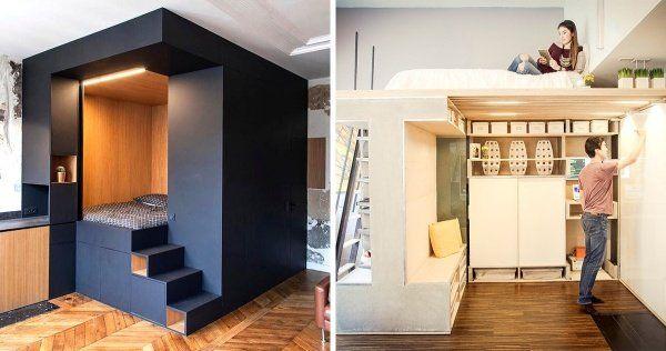 17 Ideas Brillantes Para Ahorrar Un Monton De Espacio En Los Departamentos Pequenos Apartamentos Pequenos Apartamento Pequeno Viviendas Diminutas