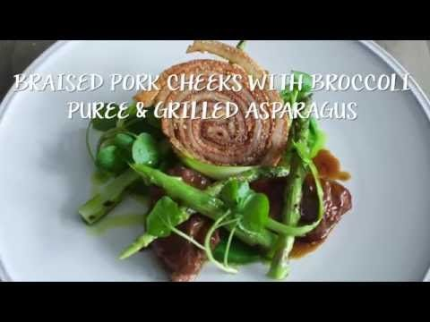 The Leconfield's talented Head Chef Paul Welburn visited our Development Kitchen recently and created this mouth watering braised pork cheek dish, served with raw and grilled asparagus and @tenderstem puree. It tasted incredible! Visit our website to find the full recipe.
