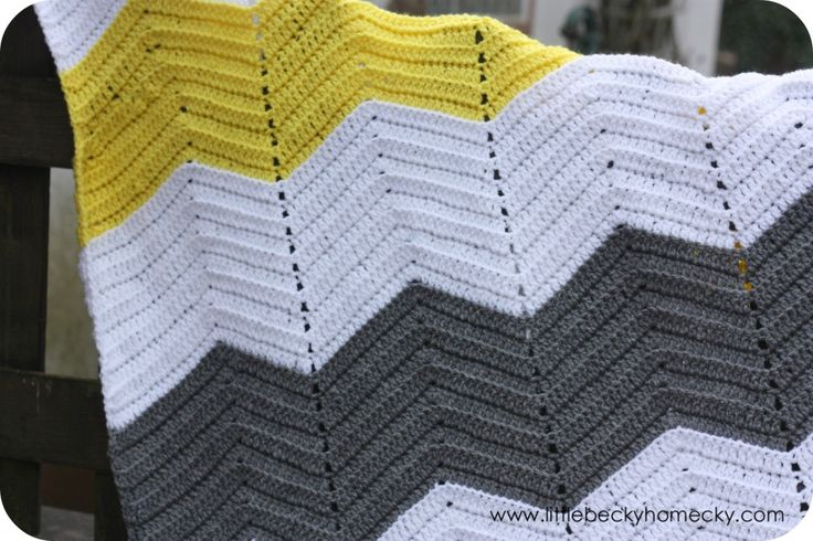 Chevron crotchet blanket...these are the colours I want!