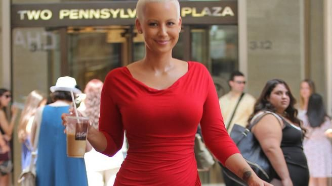 Curvaceous model Amber Rose has revealed she feels at her sexiest when she's naked. - Provided by Bang