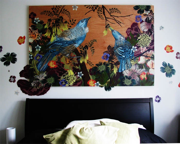 Gorgeous backdrop for your bedroom.  I heart Flox.