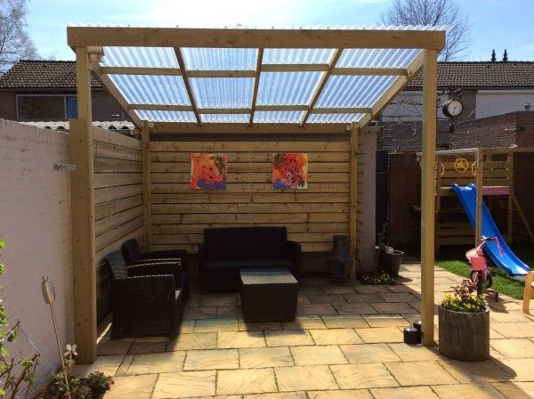Best 25 patio roof ideas on pinterest patio shed roof ideas porch cover and deck awnings - Hout pergola dekking ...