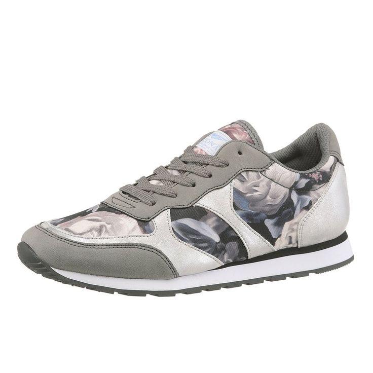 Sneakers imprimées à lacet femme