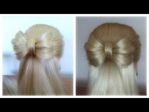 Easy Pull Thru Hair Bow / Hairstyle / Hair Tutorial / HairGlamour - YouTube