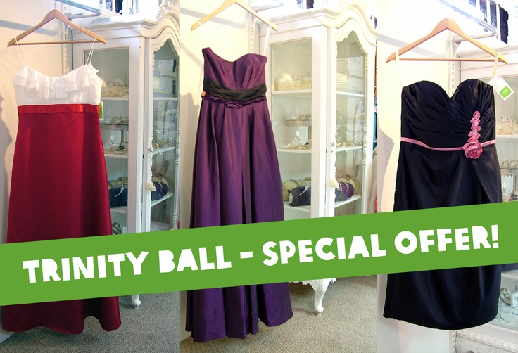 Any Trinners ladies off to the Trinity Ball? Get your brand new (with tags) dress - plus two beauty treatments from Beauty For All of Middle Abbey St - for only €50 with Oxfam George's Street, Dublin 2. Tel: (01) 478 0777.