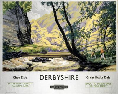 Vintage British Railways Derbyshire Poster