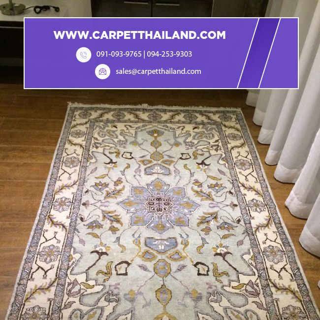 Our customers can now buy exquisite handmade #rugs and #carpets at www.carpetthailand.com at unbelievably affordable prices and with the added convenience of buying #online and free delivery to your door . Shop online for Handmade Carpets from a great selection of Carpets, Rugs & attractive #designs. Get in touch with our #experts at 091-093-9765   094-253-9303 or visit www.carpetthailand.com