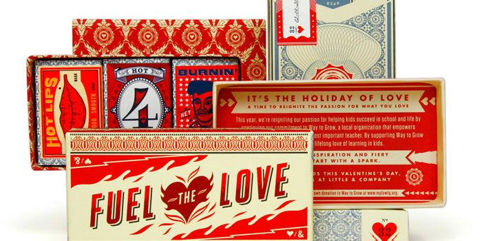 Quite obsessed with this whole collection! Fuel the Love - The Dieline -