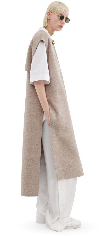 Acne Studios Vento beige melange Sleeveless coat