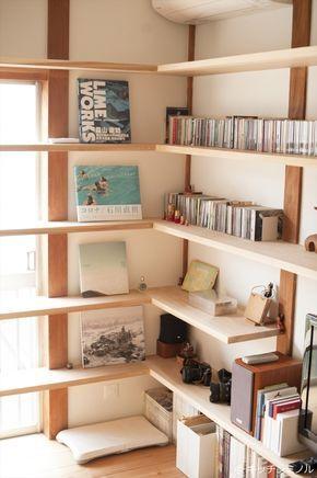 古い家の思い出を残し、図書館のような家に改築」荒木毅建築事務所の ... 壁面収納