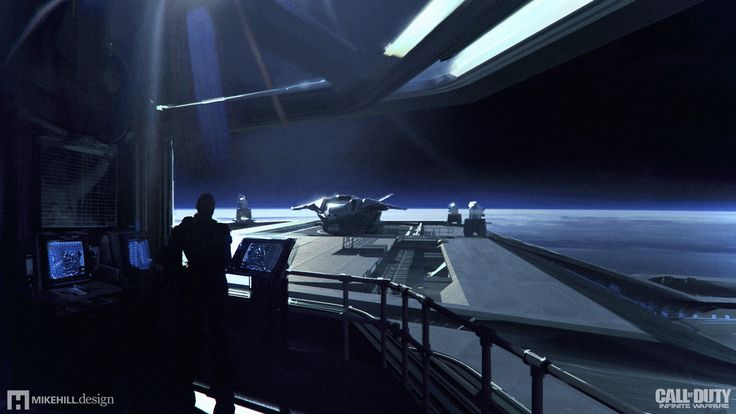 ArtStation - Call of Duty Infinite Warfare - UNSA Retribution Bridge, Mike Hill