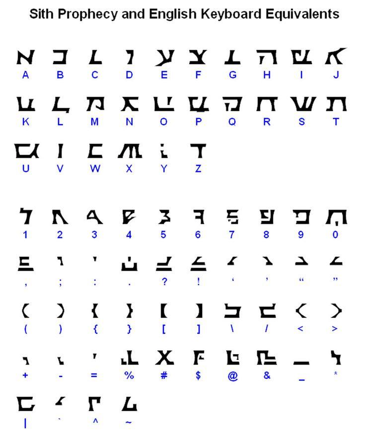 Sith Prophecy Font