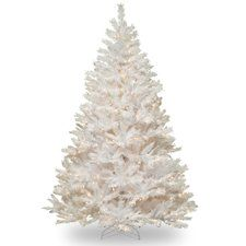White 7.5' Pine Artificial Christmas Tree