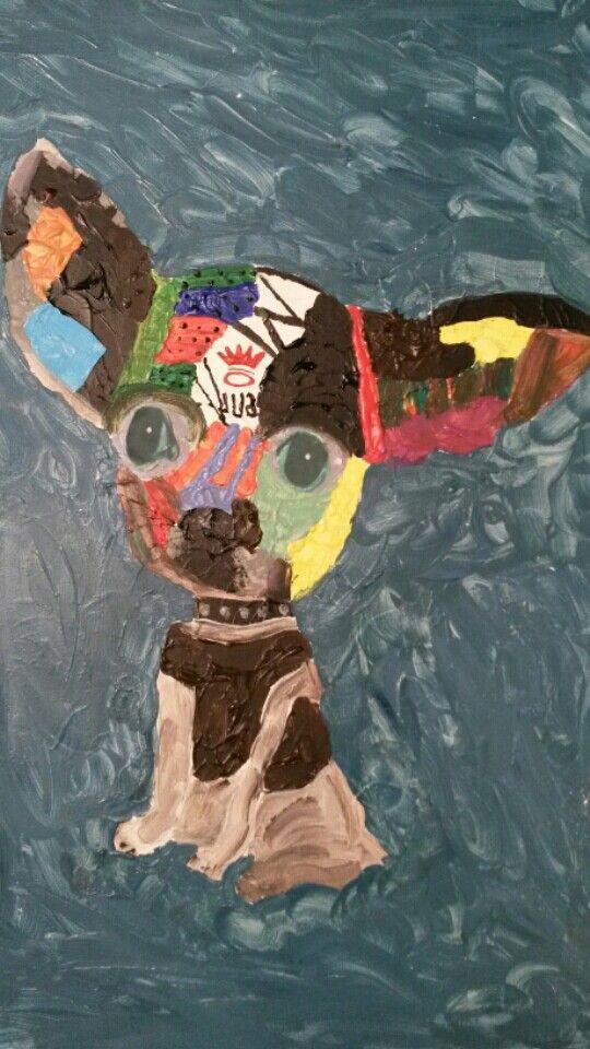 Canvas chihuahua